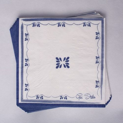 Royal Blue Napkins 3ply 33 x 33cm 20's Story Book Royal Regal Leader